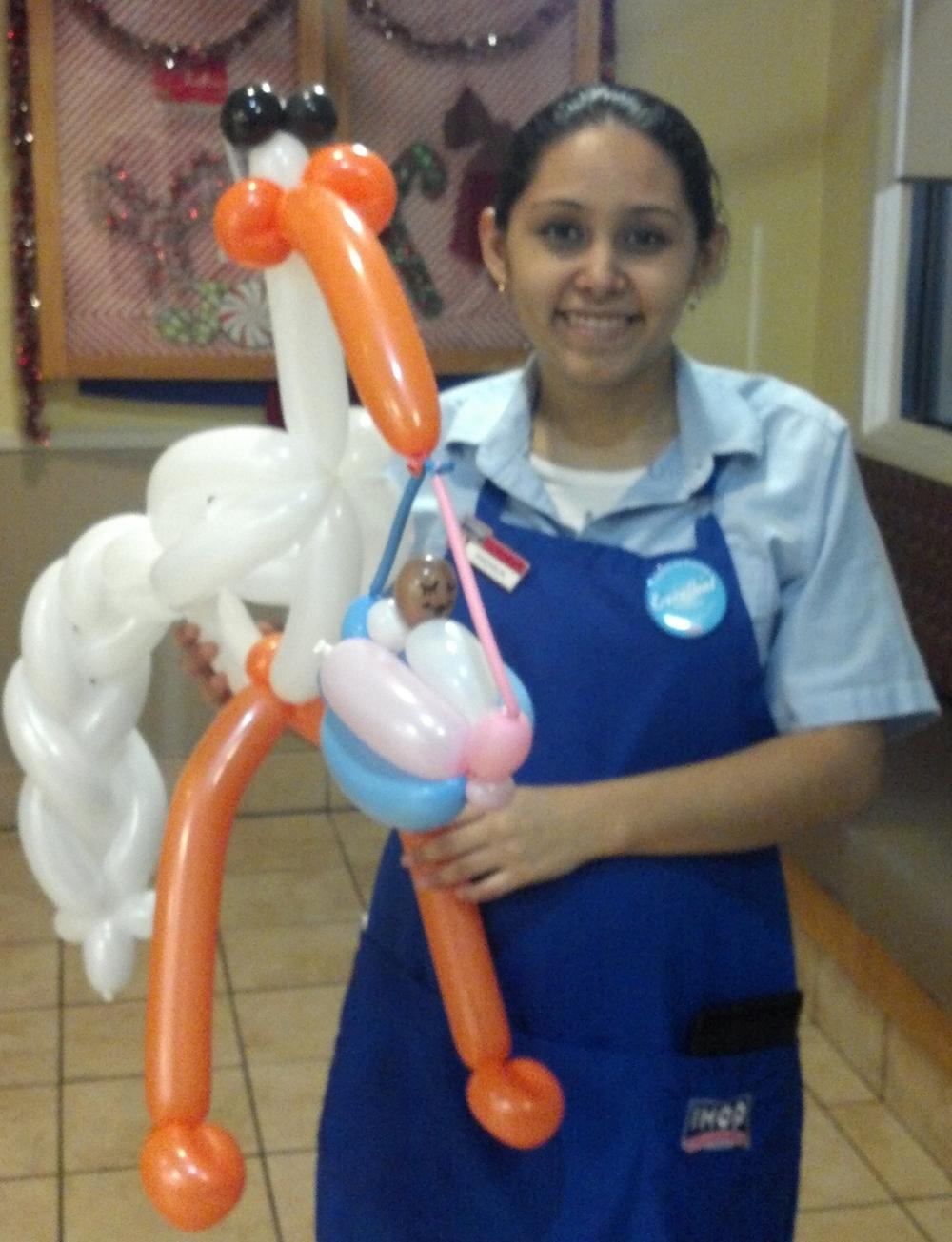Balloon stork