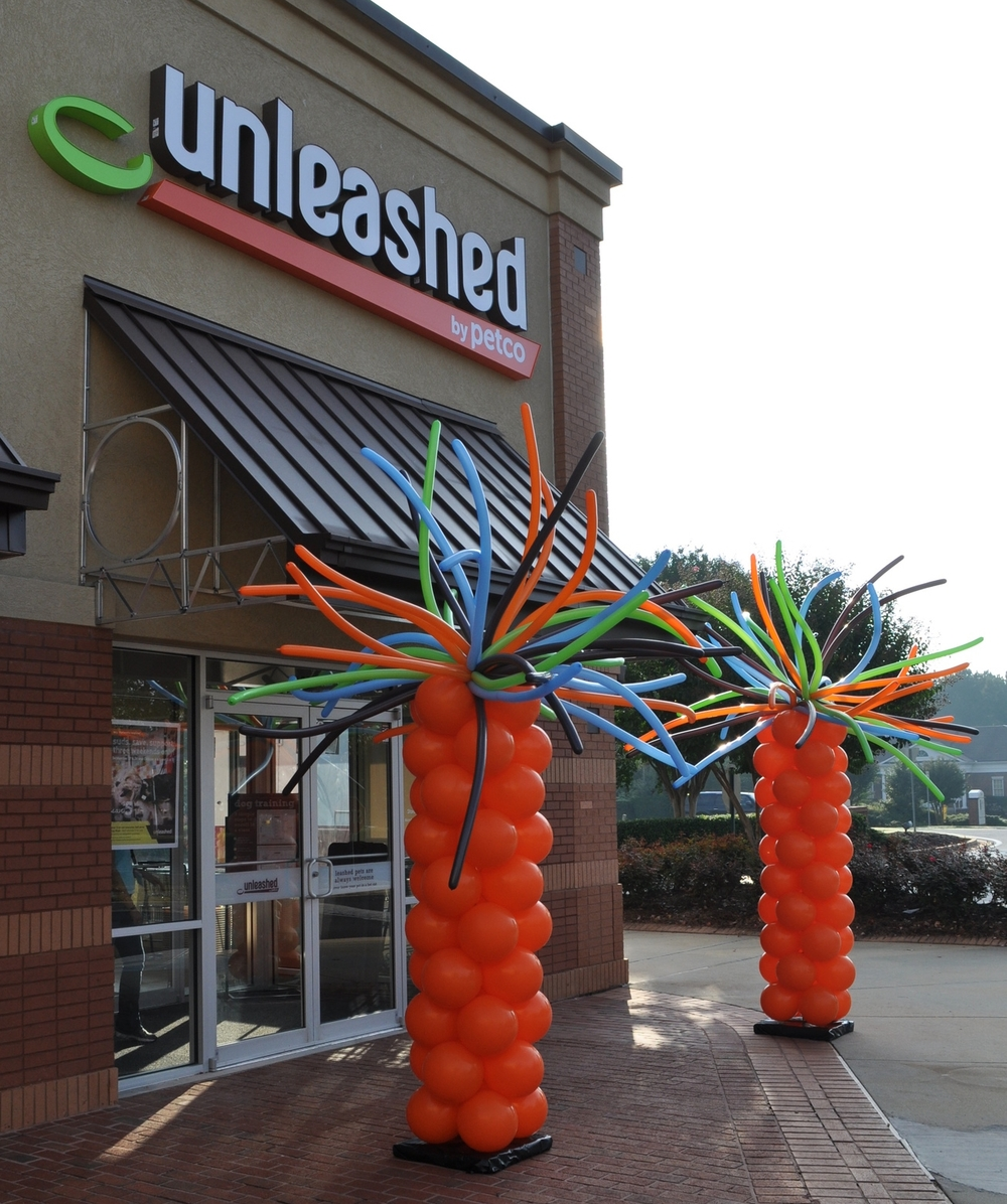 Balloon decor for Petco Unleashed