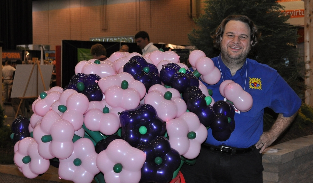 Me giving out balloons at a convention