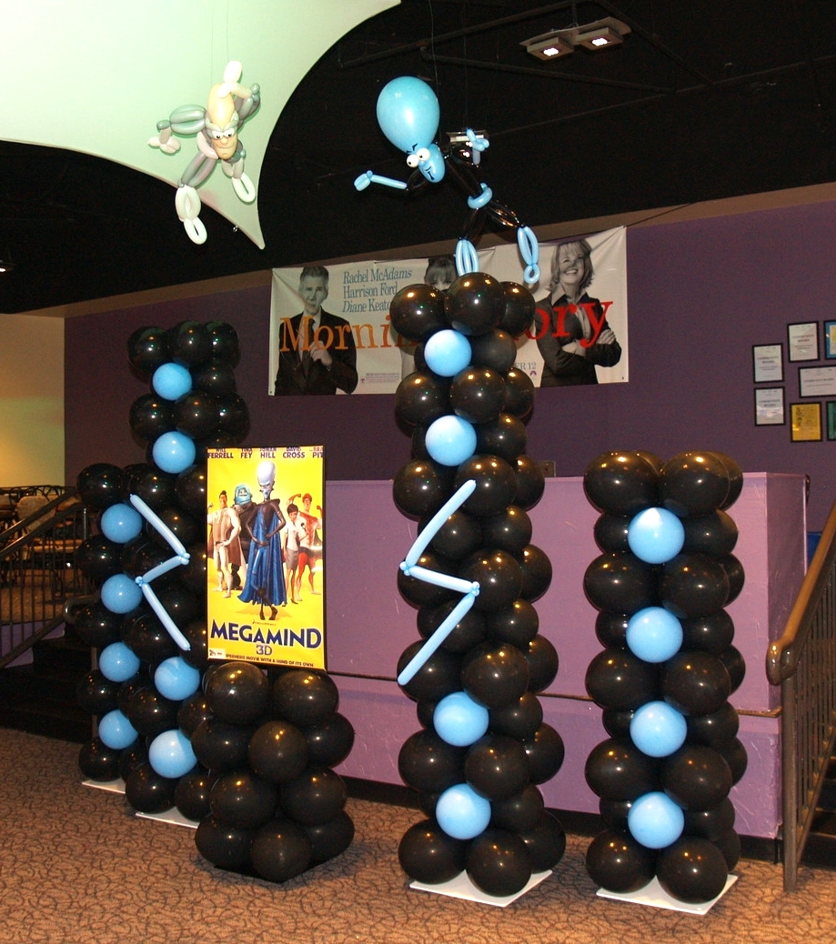 Balloon display for the Megamind movie launch at Aurora Cineplex