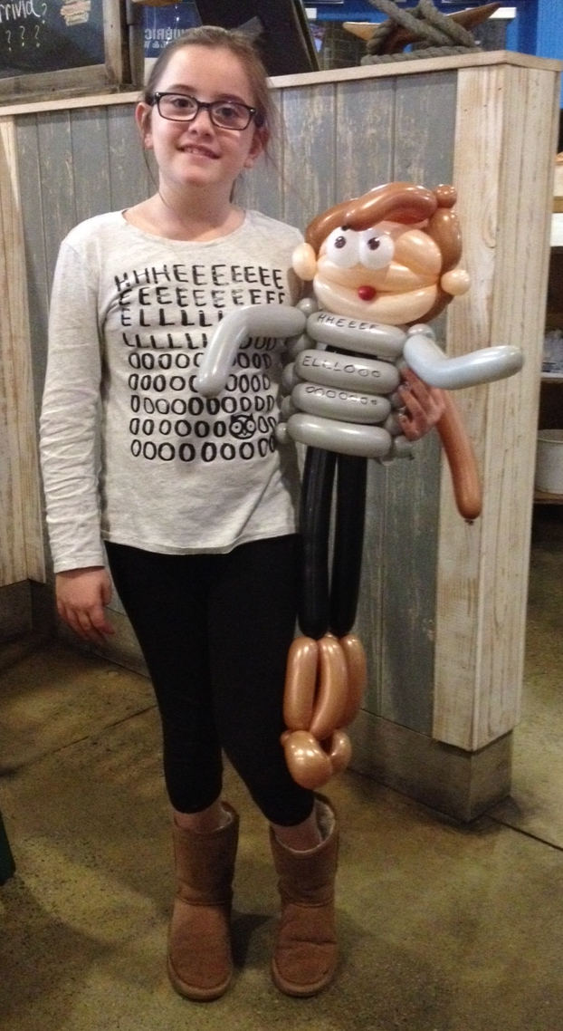 She asked for a balloon version of herself