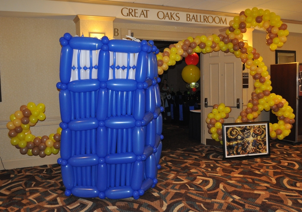 Doctor Who Bar Mitzvah balloon Tardis explosion entranceway