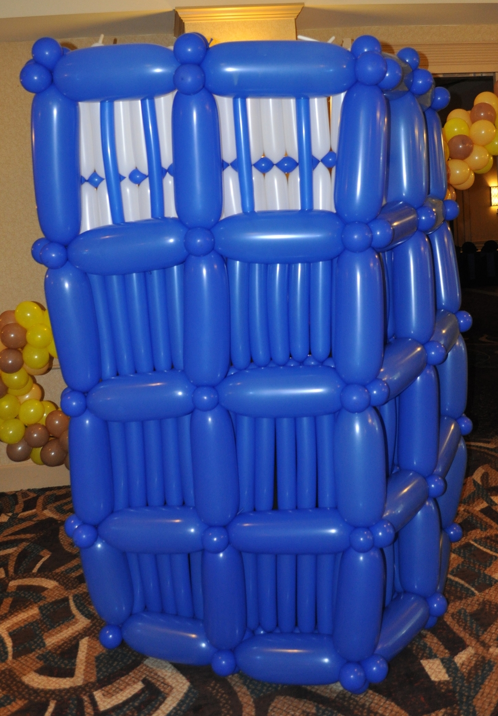 Doctor Who Bar Mitzvah balloon Tardis