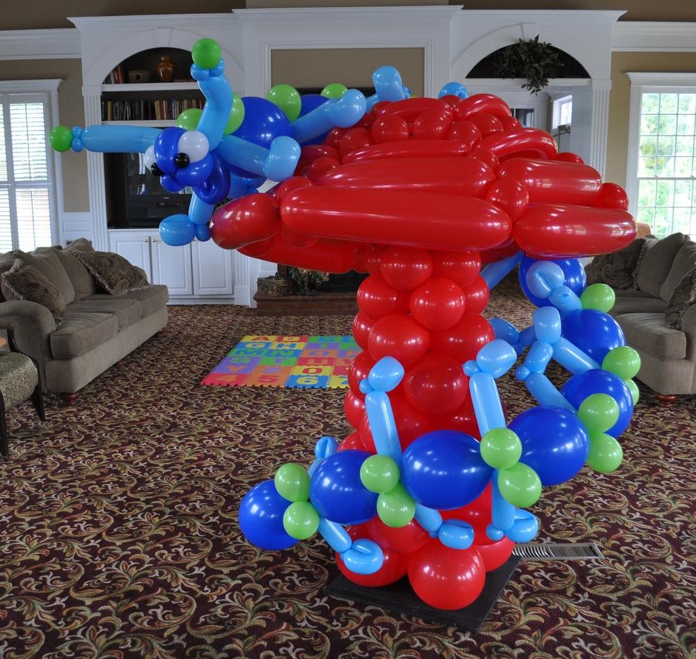 Alice in wonderland balloon caterpillar and mushroom