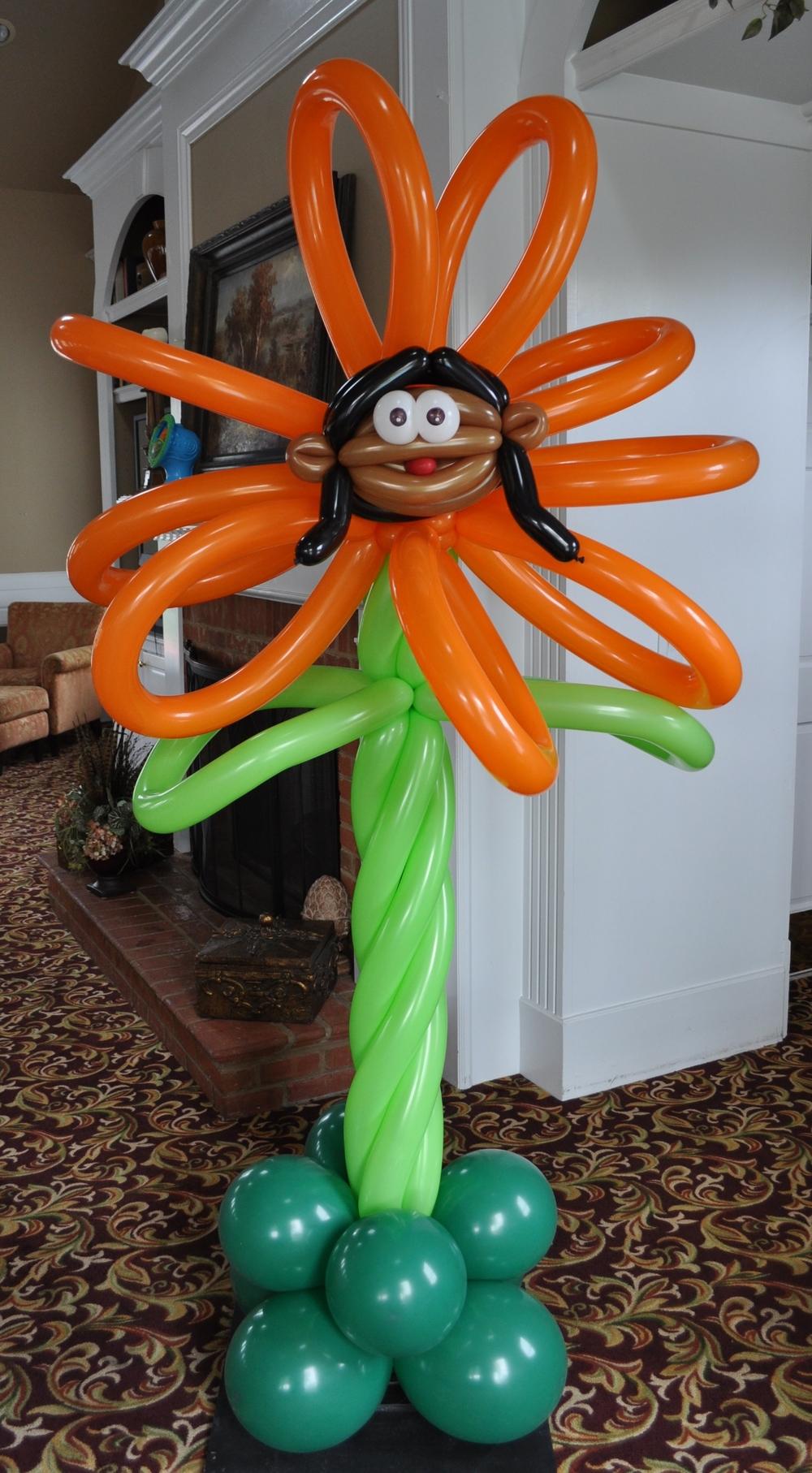 Alice in wonderland balloon orange talking flower