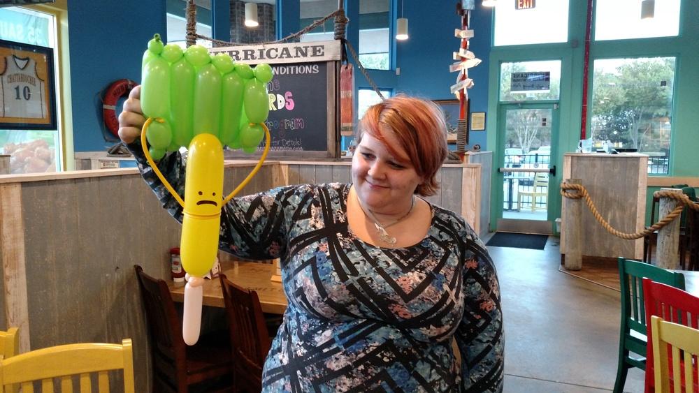 balloon sad corn dog