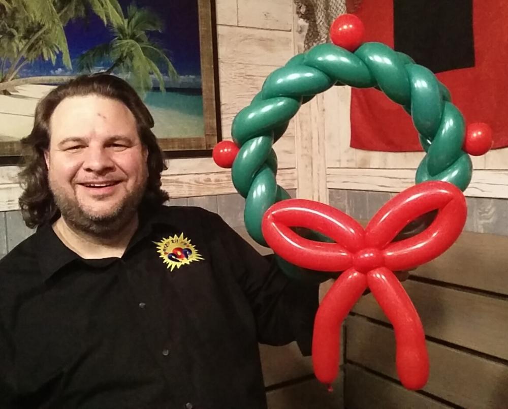 Balloon Christmas wreath