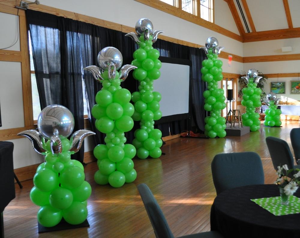Balloon decor for UUMAN's 25th Anniversary