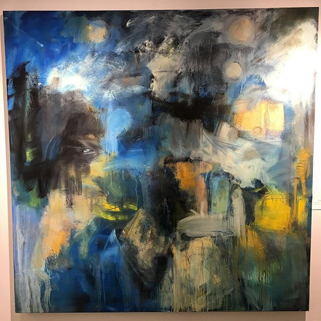 Midnight by Bruce Horan. 60x60. One of the many beautiful pieces being hung in preparation for The Connecticut Affordable Art Fair. Visit CTAAF for more information and tickets. #artevent #painting #wilton #weston #darien #ctaaf #avenuegallery #westport #norwalk #greenwich #stamford #affordable #affordableart #affordableartfair