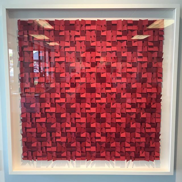 """Gregg Welz """"Red Construction."""" One of hundreds of beautiful pieces available starting tonight at The CT Affordable Art Fair. Get your tickets now and see the best that local art has to offer for an affordable price. Www.ctaaf.com #affordableartfair #affordableart #affordable #stamford #greenwich #norwalk #art #westport #newcanaan #artshow #artopening #artexhibition #event #darien #fairfieldcounty #fairfield #artist #arts #localart"""