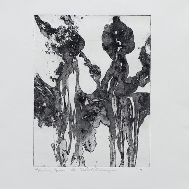 Come and see Ruth Kalla Ungerers beautifully intimate etchings. Ruth's work range from traditional to contemporary printmaking techniques.  Image: Ruth Kalla Ungerer, Reaching Arches, egg white etching and aquatint. #printmaking #print #workonpaper #paper #etching #aquatint #copperetching #art #artwork #norwalk #avenuegallery #norwalkart #stamford #newcannan #darien #weston #westport