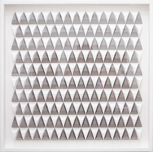 Visit our gallery and see Gregg Welz beautifully intricate shadow boxes. His meticulously folded paper creates a maze of architectural patterns.  Gregg Welz. Untitled. Folded paper.  #paper #paperart #shadowbox #avenuegallery #gallery #paperfolding #white #norwalk #stamford #newcannan #westport #weston #wilton #art #artist #fineart #workforsale