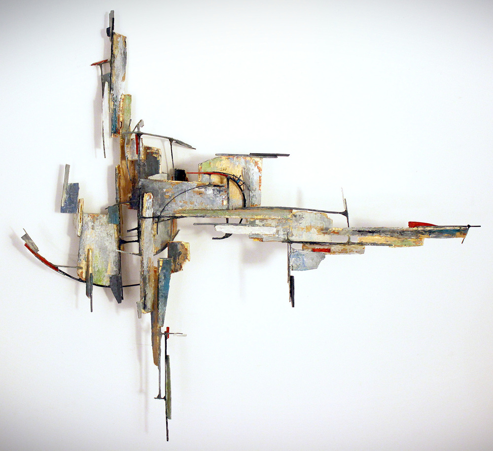 "VORELIS  | WOOD, ARCHIVAL BOARD, WIRE, ACRYLIC | 26.5"" X 27"" X  8"""