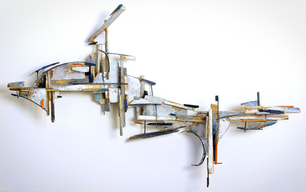 "NIASTRED | WOOD, ARCHIVAL BOARD, WIRE, ACRYLIC | 23"" X 35"" X 7.5"""