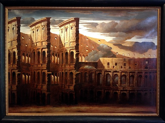 Colosseo (Colosseum),2006     Medium:Acrylic on canvas  Size: 51 x 36 inches(129.5 x 91.4 cm.)
