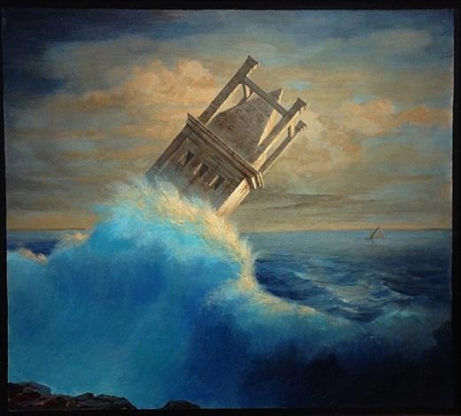 Naufragio (Shipwreck),2007     Medium: Acrylic on faesite (hardboard)  Size: 21 in. x 19 inches(53.3 cm x 48.3 cm)