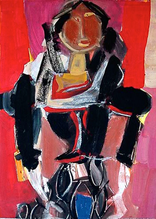 Untiltled, 1960    Medium: Acrylic on paper  Size: 28 x20 inches (71x 50,8 cm.)  Markings: Signed and dated on the lower right side