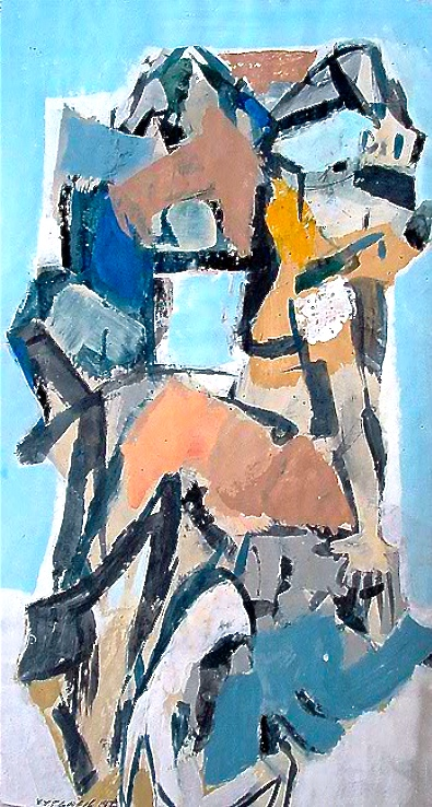 Untitled, 1973    Medium: Acrylic and tempera on paper  Size: 40x 22 in. (101,6 x 55,8 cm.)  Markings: Signed and dated on the lower left side