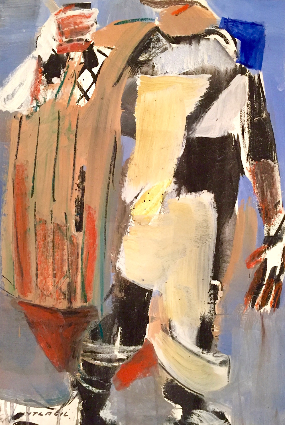Fisherman   Medium: Paintings Size: 36 x 24 in. (91.4 x 61 cm.)  Markings: signed lower left