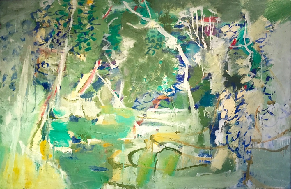 Mountain scene, ca. 1950–1959   Medium: Paintings, Oil on canvas  Size: 40 x 60 in. (101.6 x 152.4 cm.)