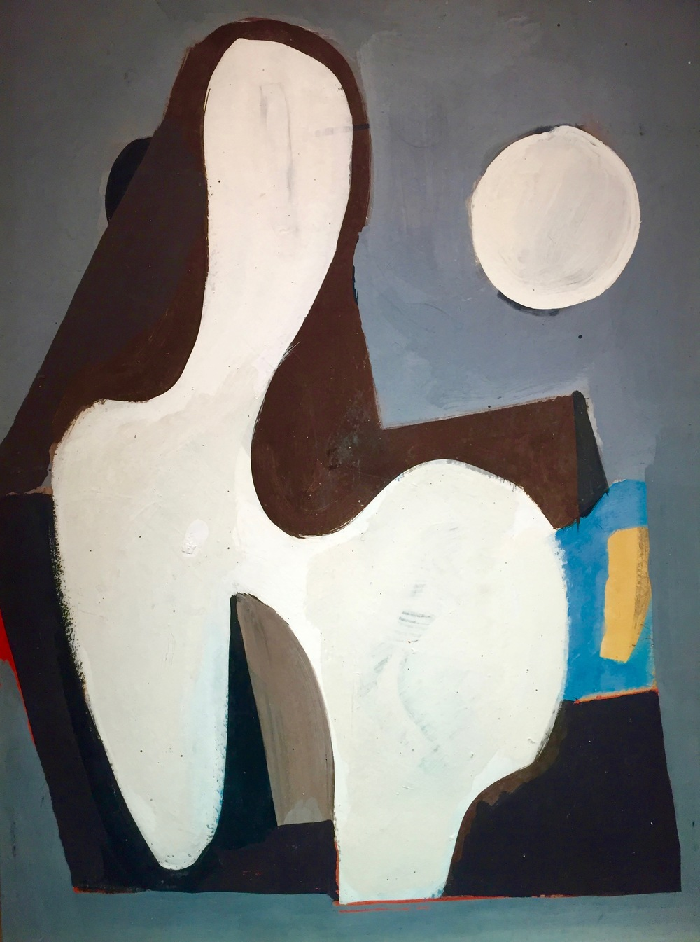 Geometric figure,1938    Medium: Paintings, Oil on board Size: 23 x 18 in. (58.4 x 45.7 cm.)  Markings: Signed and dated in the back