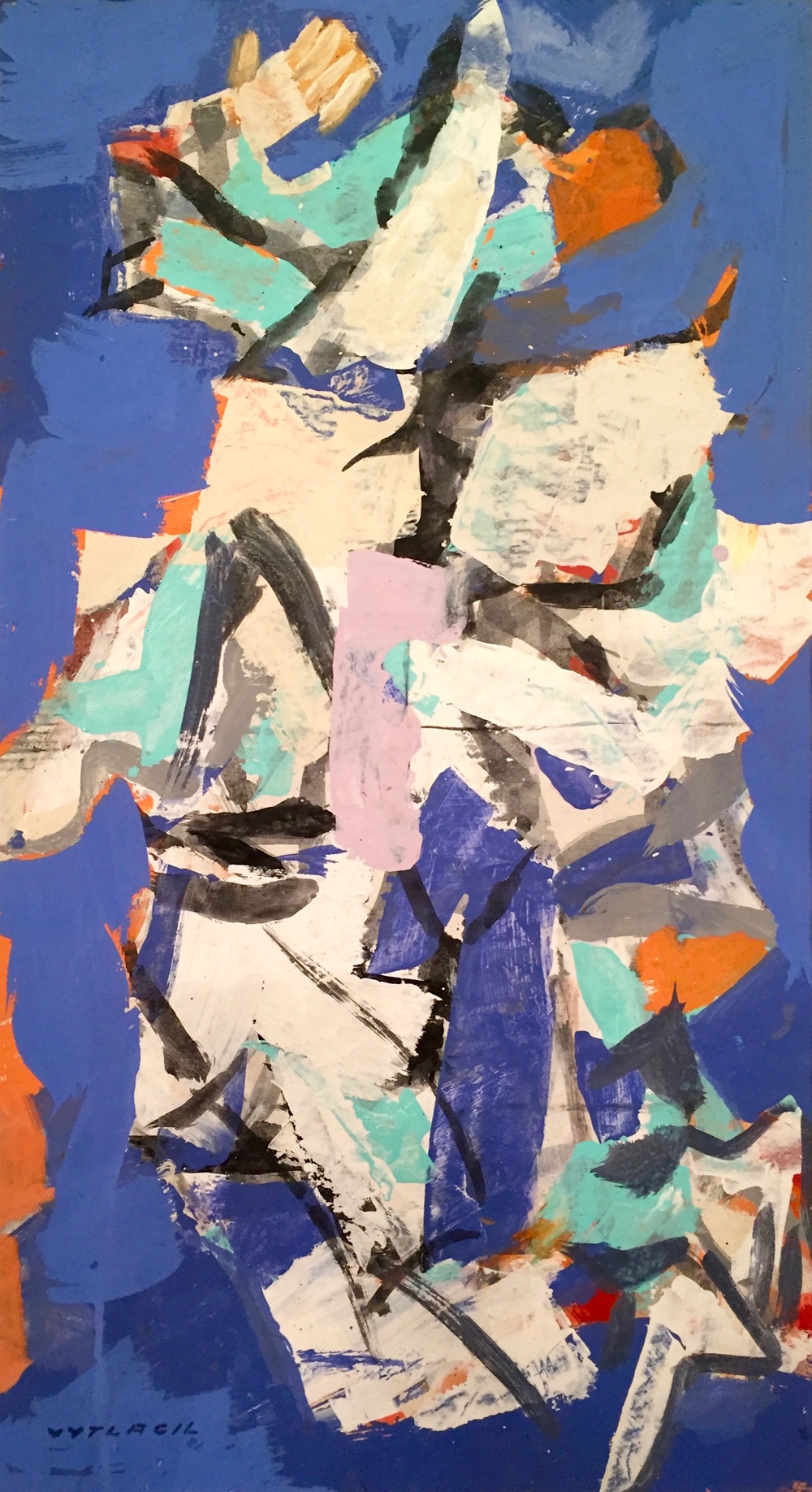 Untitled, ca. 1970–1979   Medium: Paintings, Acrylic on paper  Size: 40 x 22 in. (101.6 x 55.9 cm.)