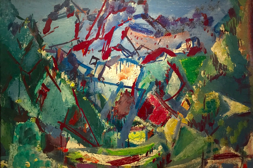 Rocky Mountains, 1950–1959   Medium: Paintings, oil on board  Size: 25 x 37 in. (63.5 x 94 cm.)