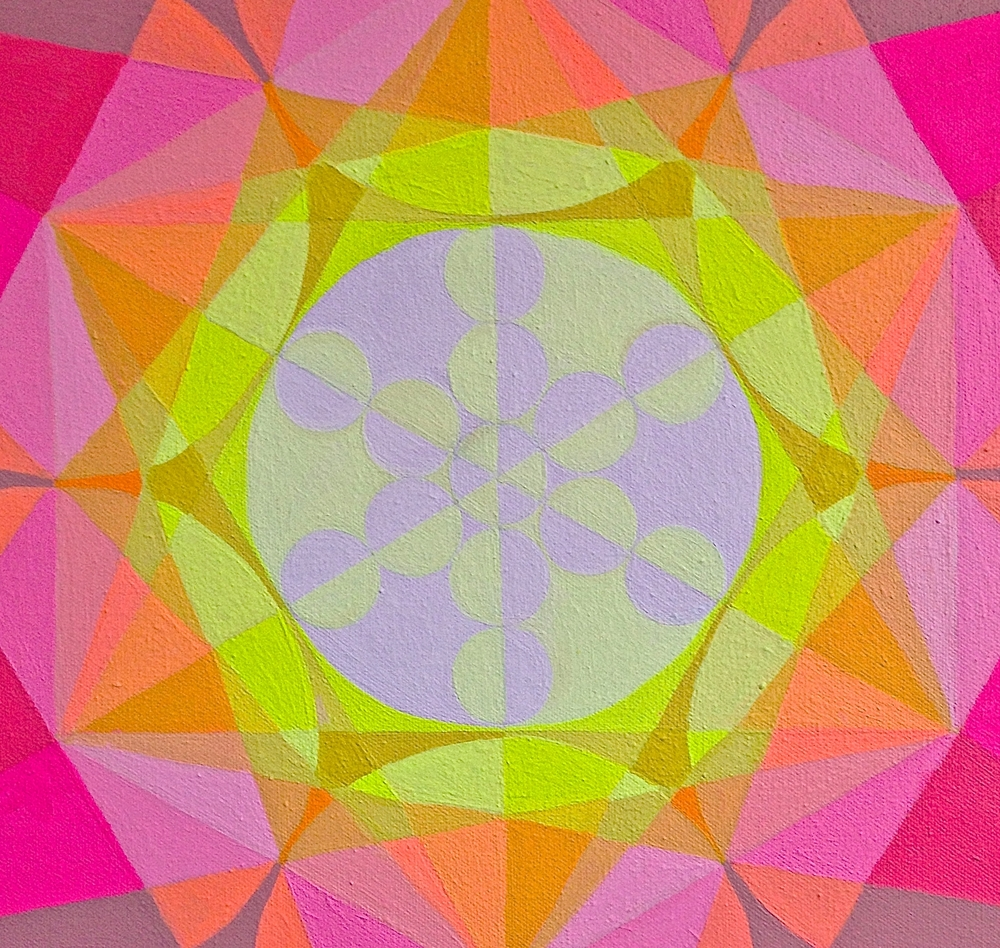 "Fruit of life, Detail Light Merkaba,  2015, 15"" x 15"""