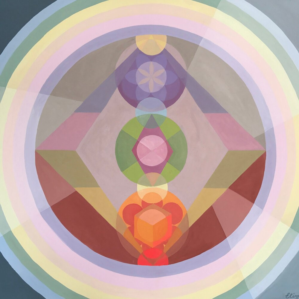 I am Lightwork, 2017, 7' x 10' acrylic on canvas