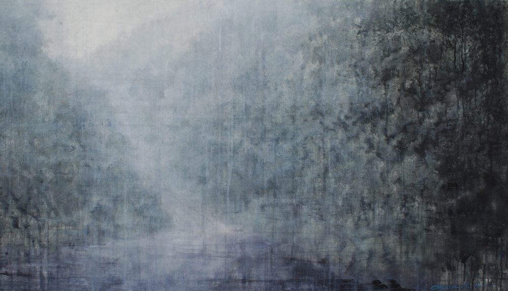 Lonesome Journey V, 45x77 inches