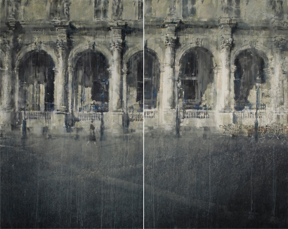 The Louvre II, 83x104 inches, diptych