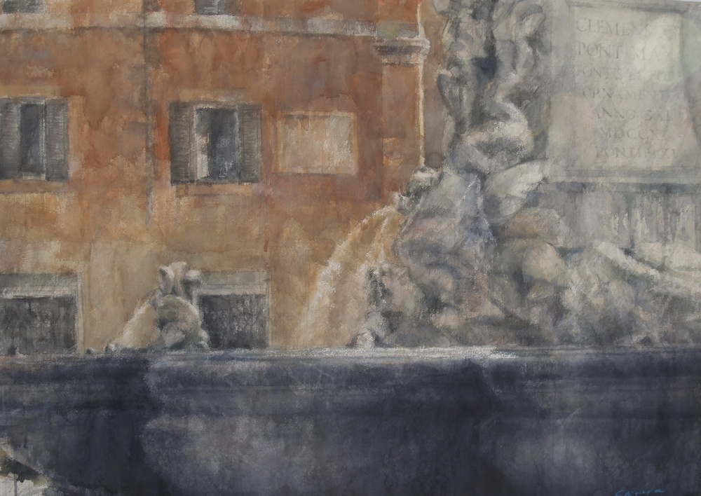 Fountain of Rome I, 29x41 inches