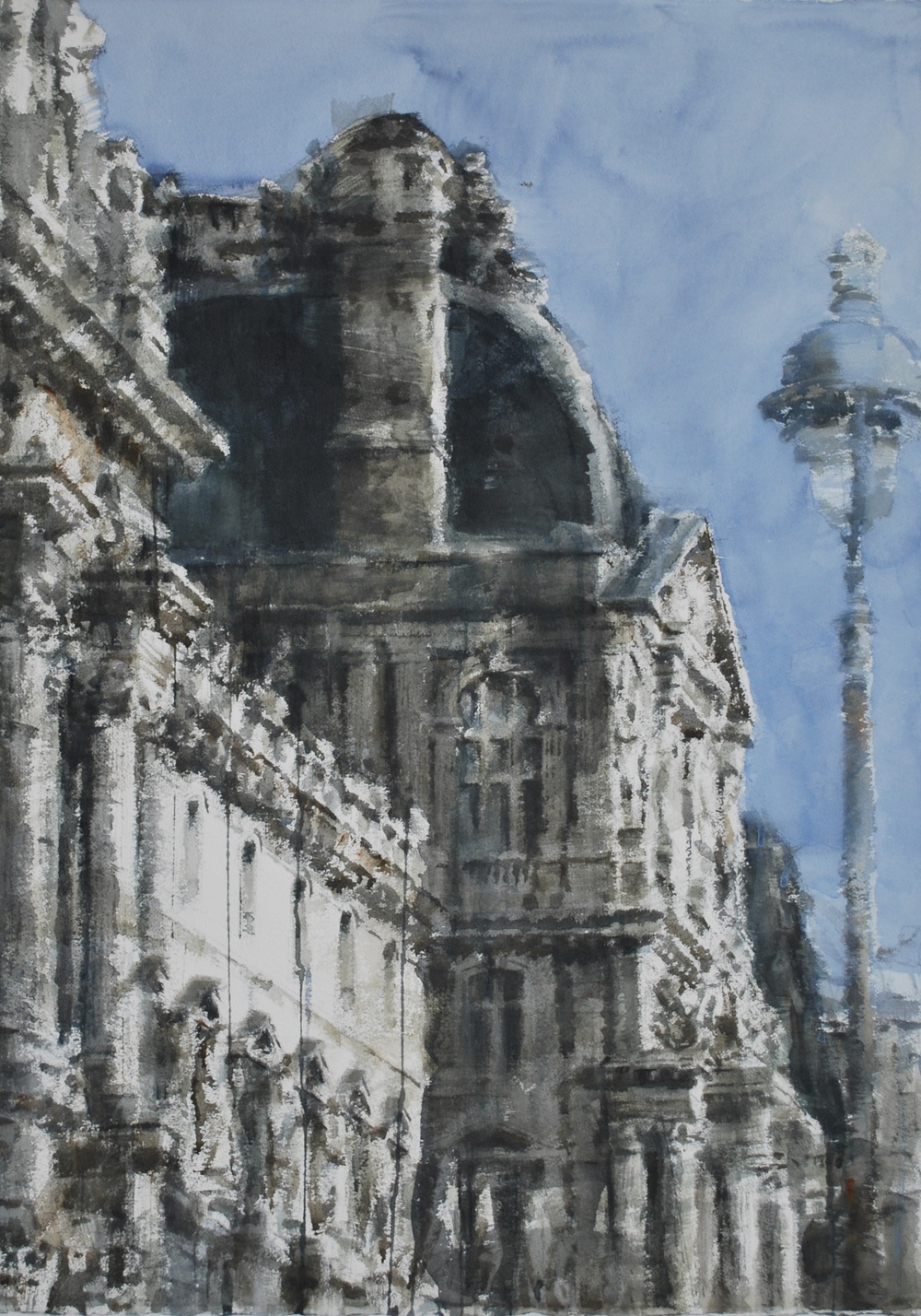 Rhythm of Light on Louvre IV, Paris, 29x41 inches