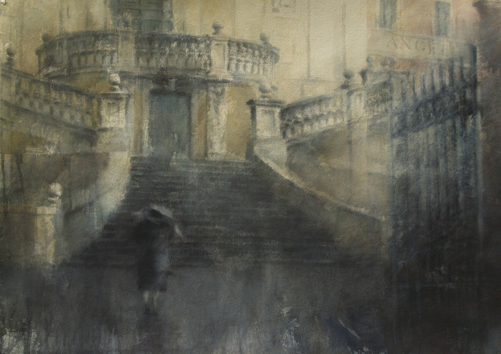 Steps of Rome III, 29x41 inches