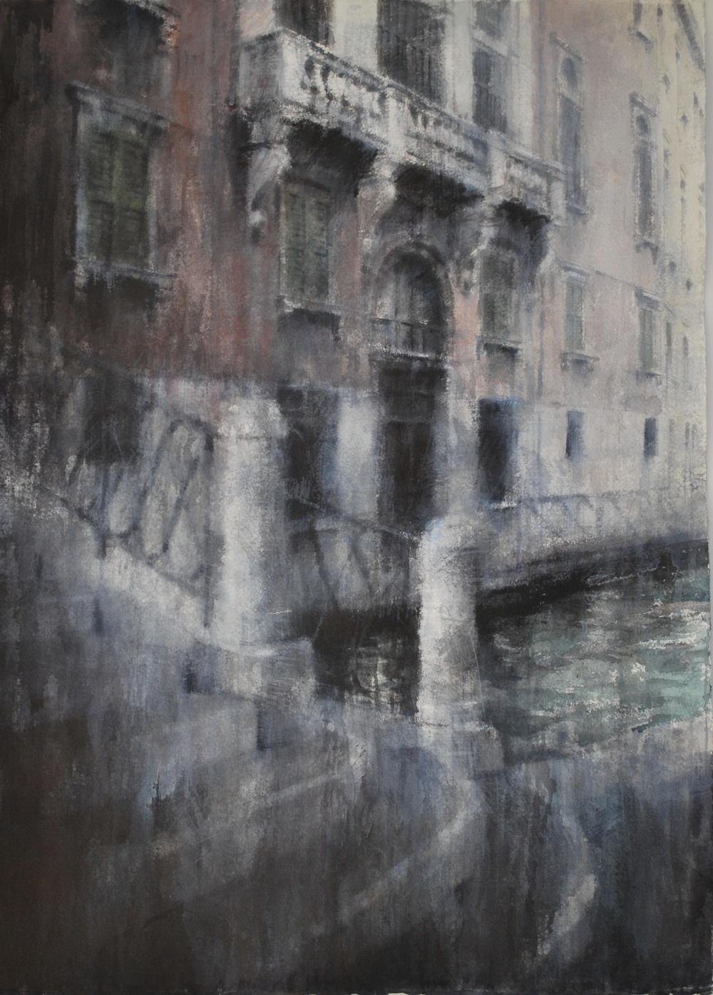 Steps of Venice I, 29x41 inches, (Private Collection)