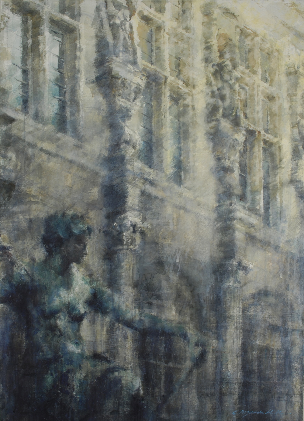 Hotel de Ville, Paris, 29x41 inches