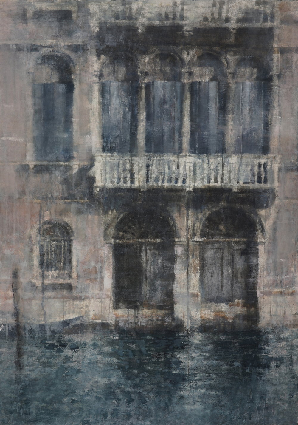Windows of Venice III, 52x37 inches