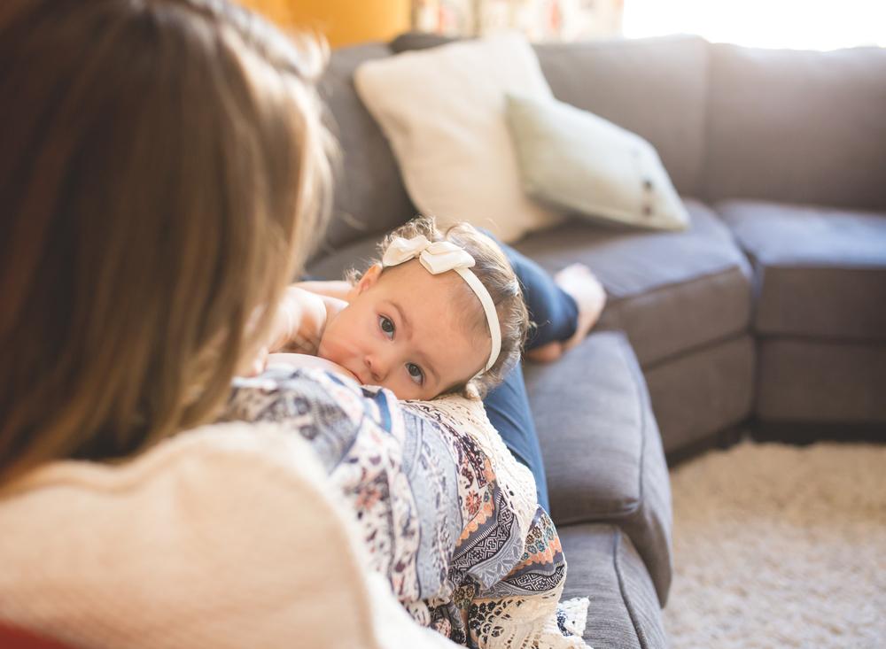 Breastfeeding Session | Stockton Photographer