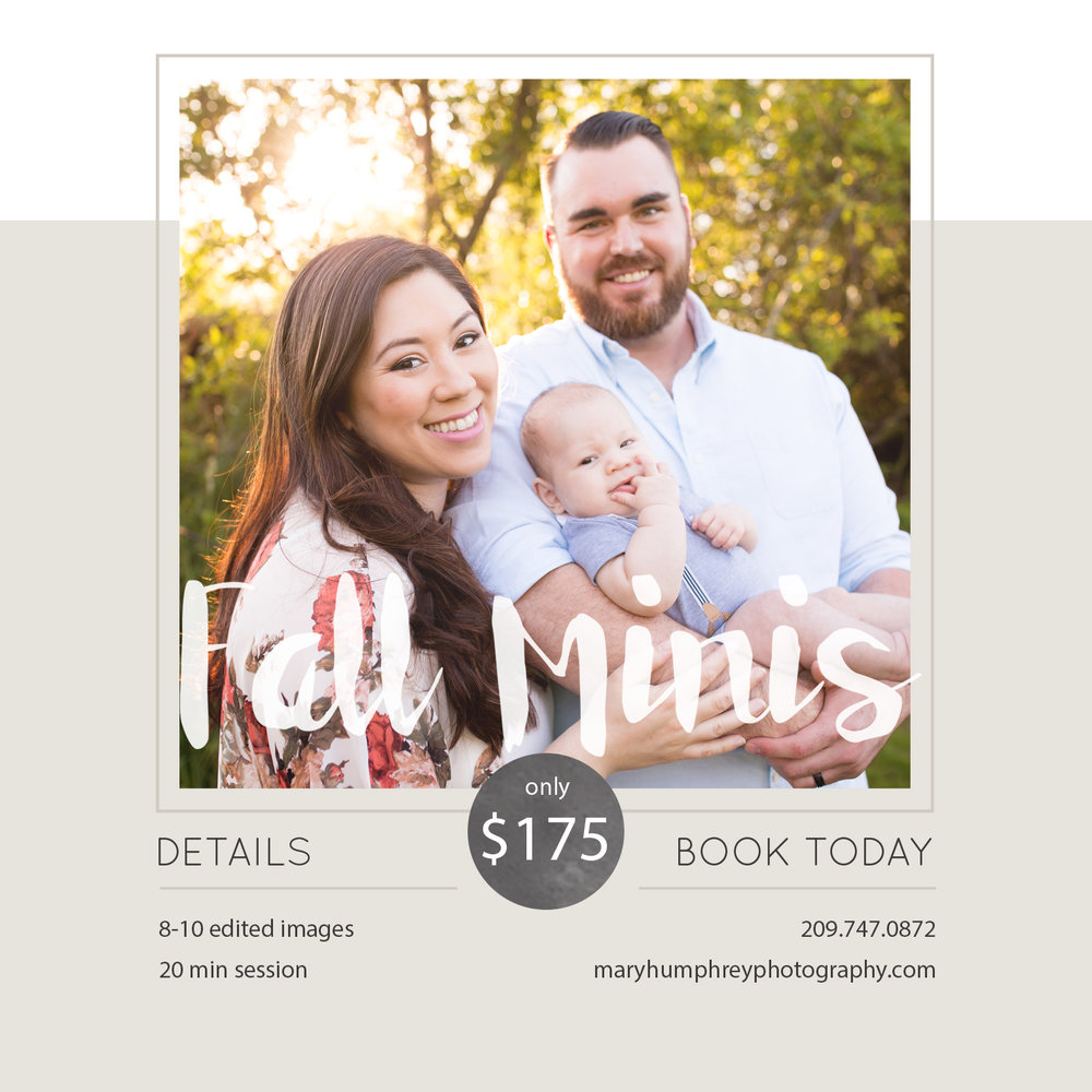 Stockton, Lodi and Elk Grove Family Lifestyle Photographer | Mary Humphrey Mini Sessions