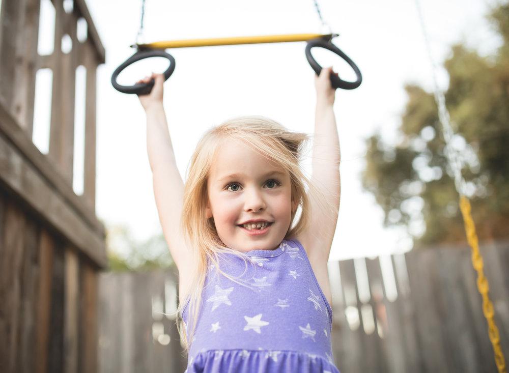 Family Documentary Photography - Backyard fun