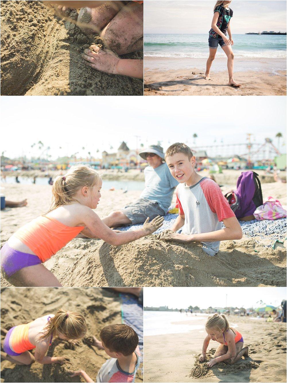 Santa Cruz Boardwalk Beach | Family Camp Trip | Mary Humphrey Photography