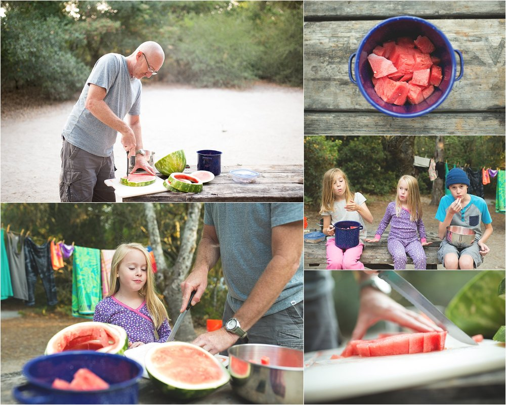 Henry Cowell Redwoods State Park | Santa Cruz | Family Camping | Watermelon | Mary Humphrey Photography