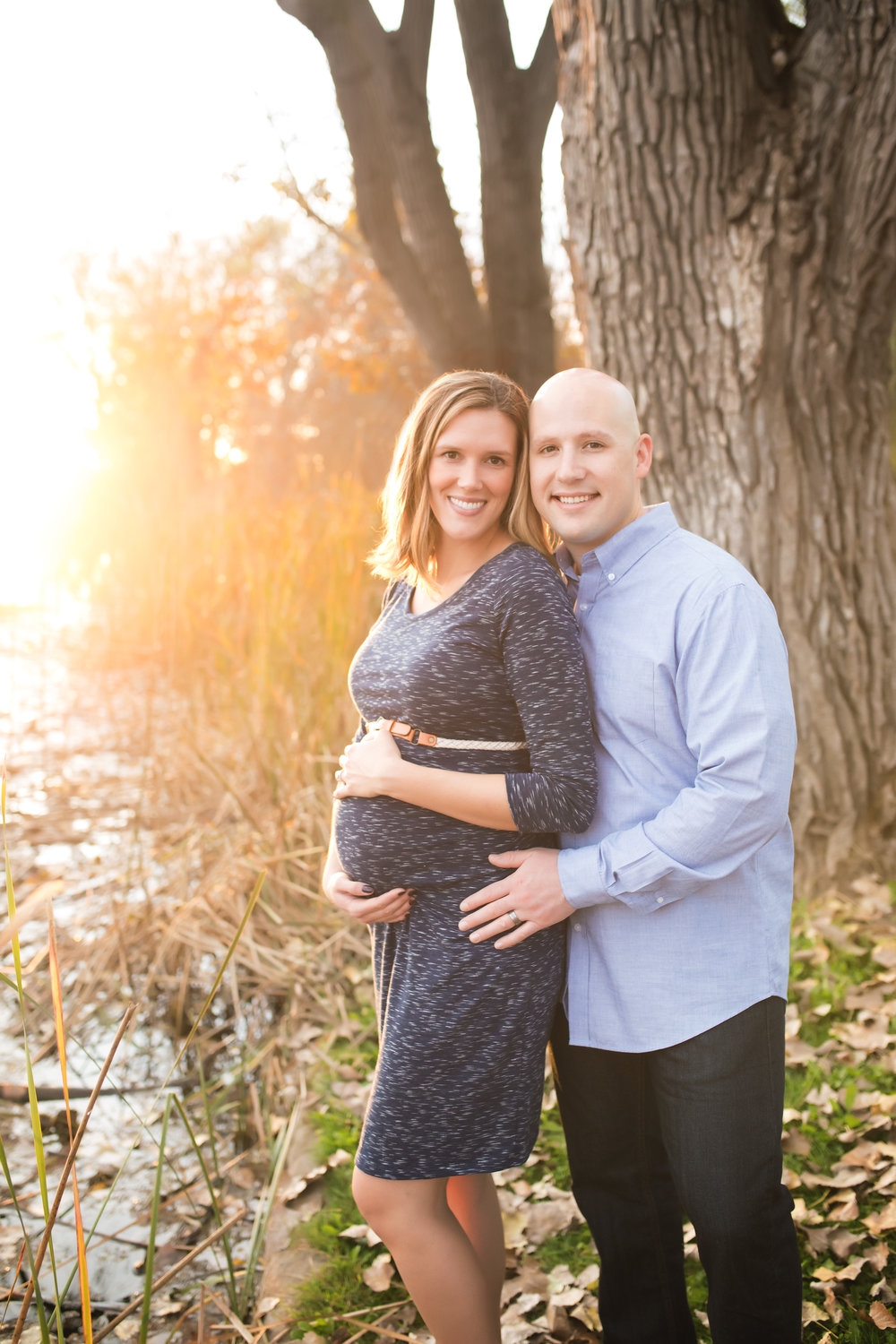 Sunset at Lodi Lake | Fall Maternity Session | Mary Humphrey Photography