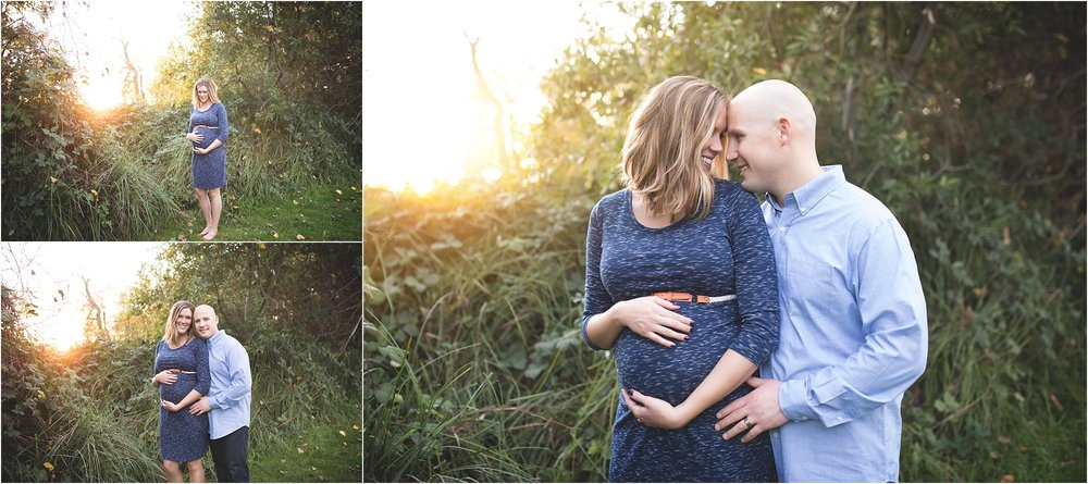 Pretty Sunset Light | Lodi Lake Maternity Photos | Mary Humphrey Photography | Blue dress