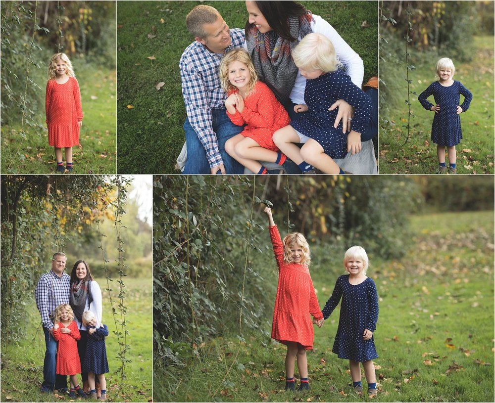 Red + Blue Fall Colors Family Mini Session | Mary Humphrey Photography | Lodi Lake