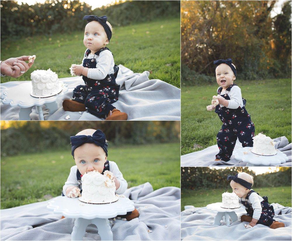 Stockton + Lodi Family Photographer | First Birthday Cake Smash