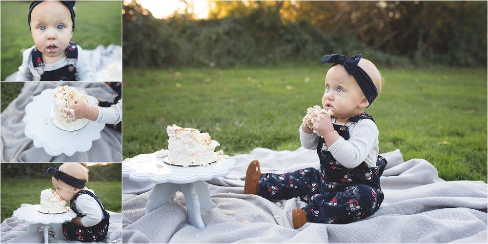Stockton + Lodi Motherhood Photographer | Lodi Lake | First Birthday Cake Smash