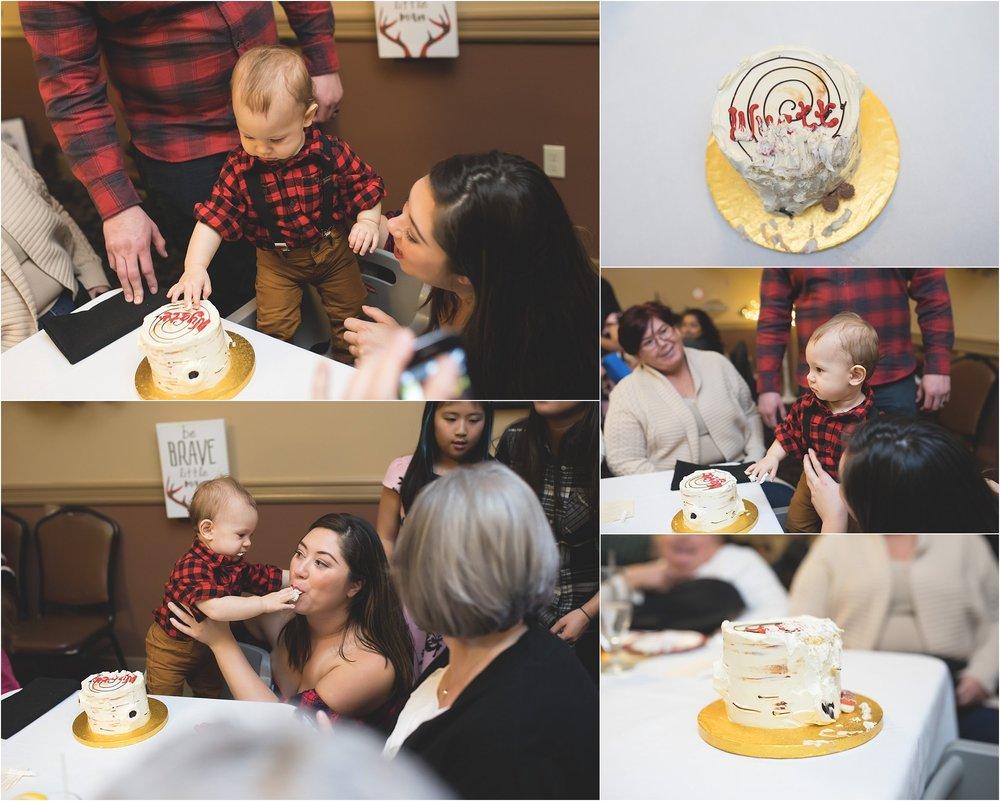 First Birthday Cake Smash at Papapavlos, Stockton CA | Mary Humphrey Photography