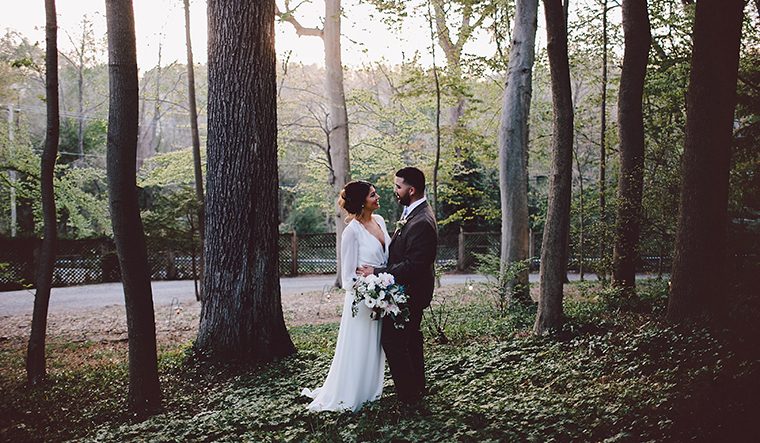 Intimate vow renewal at Faunbrook by Quarter Moon Co.