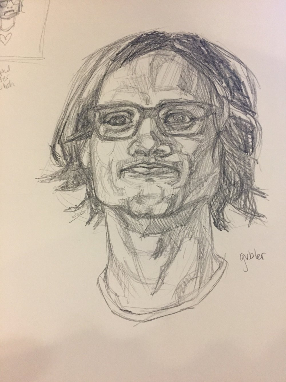 Speed sketch of Matthew Gray Gubler (I've been binge-watching Criminal Minds, okay?!)